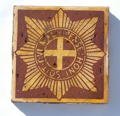 Coldstream Guards Craven Dunhill Military Encaustic Tile - From Guards Chapel