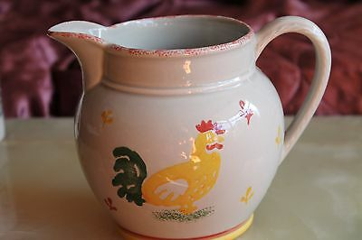 LAURA ASHLEY HENS JUG PITCHER SPONGEWARE Kitchenalia farm 19 cm x 15 cm tall