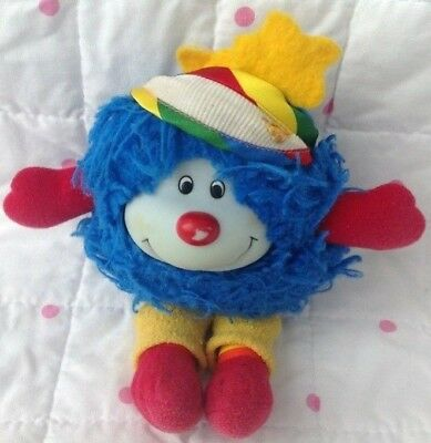 Rainbow Brite Hatful CHUMP sprite Soft Toy 1984 Blue With Hat & Yellow Leggings