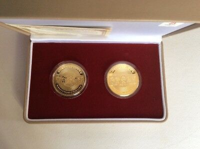 "2008 Beijing ""Olympic Venues"" Twin Commemorative Medallion Set         (K)"