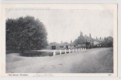 Early Postcard,Norfolk, The Street Fincham, Old Houses @ Pond, Nice View,
