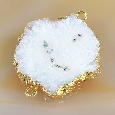 Natural Solar Quartz Stalactite Connector Gold Plated H93445
