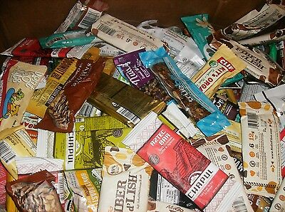 90 Assorted Organic Health / Energy Bars No Reserve Low Shipping Lqqk ~~