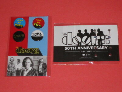 Doors - 4 Badge / Pin Pack 50th Anniversary Promo Promotional Only