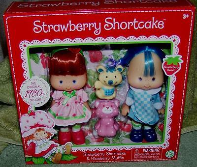 Strawberry Shortcake & Blueberry Muffin Dolls Collector's Set New