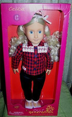 """Our Generation CELICIA 18"""" Doll in Outfit  New"""