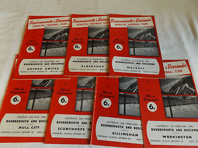Bournemouth 1965/1966 Home Programmes