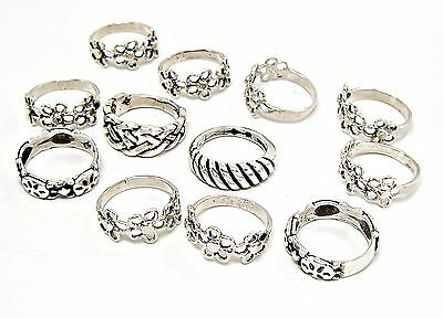 Wholesale 12 Pc Lot 24 grams 925 Sterling Silver Rings Sizes 3-3/4 to 4-1/2