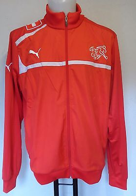 Switzerland Red Walk Out Jacket By Puma Size Adults Large Brand New With Tags