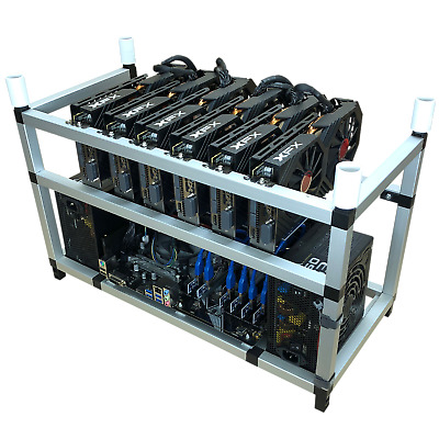 6-GPU Mining Rig: 172 MH/s Ethereum, Zcash + 19 other altcoins. NEW