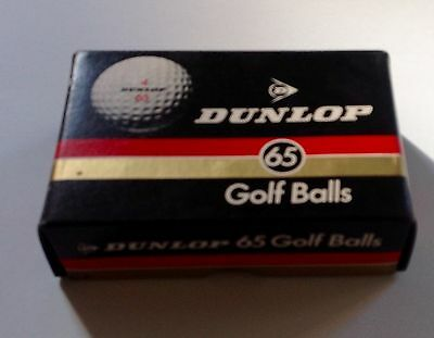 Dunlop 65 Golf Balls unused NIB 6 in box