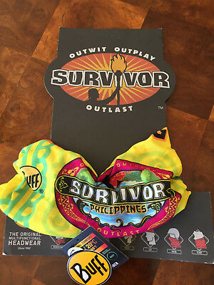 SURVIVOR BUFFS:  Philippines YELLOW Tandang Tribe Buff - New on Original Display