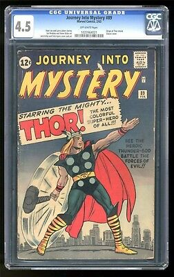 Marvel Comics VG+ THOR #89  Journey into mystery  KIRBY CGC 4.5