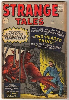 MARVEL Comics STRANGE TALES 95 VG Mid  to low  grade  2 HEADED THING KIRBY DITKO