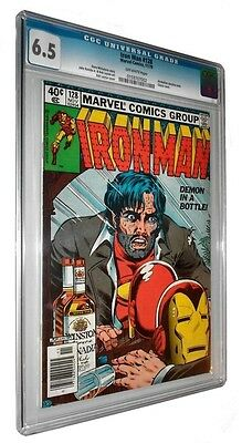 Marvel Comics INVINCIBLE IRON MAN Vol 1 No 128 CGC 6.5 Demon Bottle BRONZE AGE