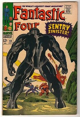 Marvel Comics FN+ FANTASTIC FOUR #64  BLASTARR