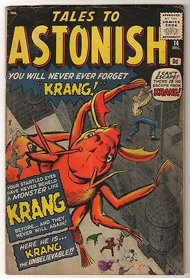 Marvel Comics VG- #14  4.0 KIRBY TALES TO ASTONISH 1961  Prototype Ant man
