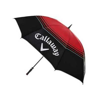 "New Callaway Tour Authentic 68"" Double Canopy Golf Umbrella Red Black MSRP $79"