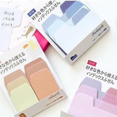 Cute Gradient Sticker Post-It Bookmark Marker Memo Index Tab Sticky Notes W