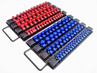 98pc GOLIATH INDUSTRIAL SOCKET STORAGE TRAY RAIL RACK HOLDER SET 1/4 3/8 1/2