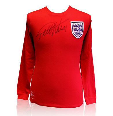 Geoff Hurst signed shirt - England vs West Germany Autograph
