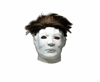 Michael Myers Mask Halloween Latex Horror Mask Full Head Deluxe With Hair