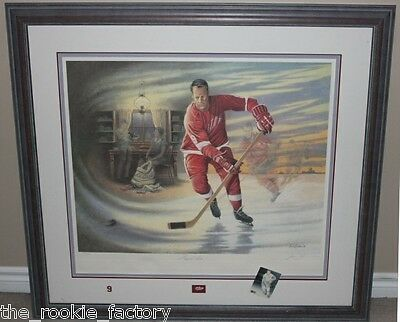 GORDIE HOWE AU |  Mr. Hockey JAMES LUMBERS FRAMED AUTO LTD ED PRINT | #1345/1509
