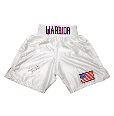 Evander Holyfield Signed Boxing Shorts - Warrior Autograph