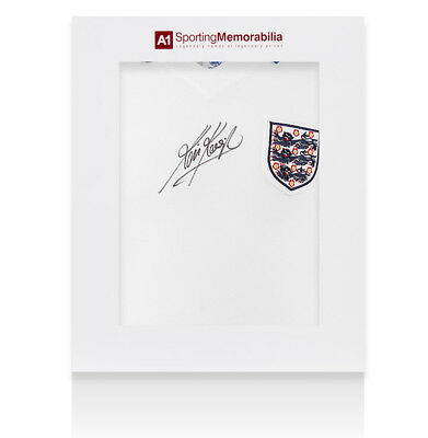 Kevin Keegan Signed England Shirt 1976 Home - Gift Box Autograph Jersey
