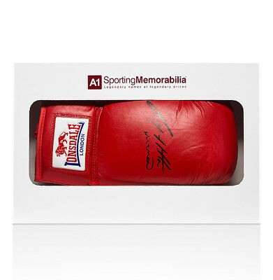 """Ricky """"The Hitman"""" Hatton Signed Boxing Glove Lonsdale - Gift Box Autograph"""