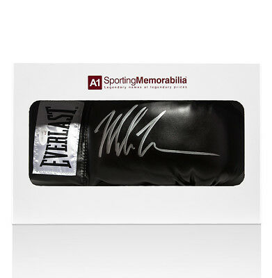 Mike Tyson Signed Black Everlast Boxing Glove - Gift Box Autograph