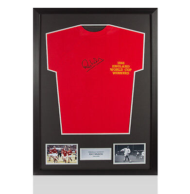 Framed Ray Wilson Signed 1966 England World Cup Winners Shirt Autograph