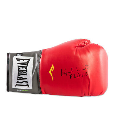 Evander Holyfield Signed Everlast Boxing Glove - Red  Autograph