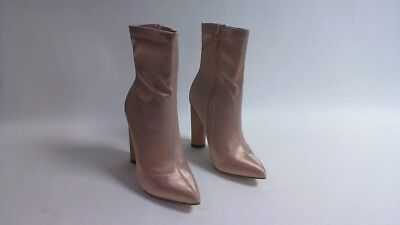 UK Sizes 3-8 Burgundy Truffle Collection Ladies Faux Suede Ankle Boots
