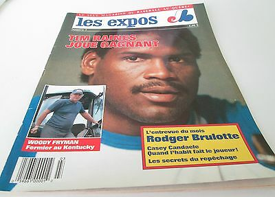 Montreal Expos Magazine 1987 Woody Fryman  Poster 16 By 11 Tim Raines