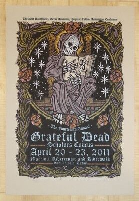 2011 Grateful Dead - Scholars Caucus Silkscreen Poster S/N by Gary Houston