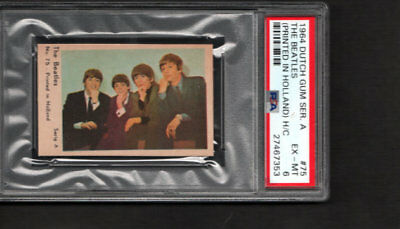 1964 The Beatles Rookie PSA 6 Dutch Gum Serie A # 75 Printed in Holland POP 1