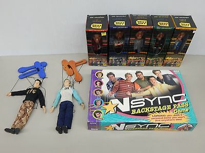 NSYNC LOT (Complete Bobblehead Set, Puppets, Incomplete Board Game)
