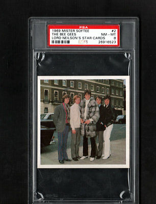 1969 The Bee Gees RC PSA 8 Mister Softee Lord Neilson's Star Cards # 2 POP 1/3