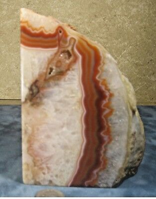 """Bookend solid Agate Geode 6""""x4.5""""x3"""" 4lb 6 oz"""