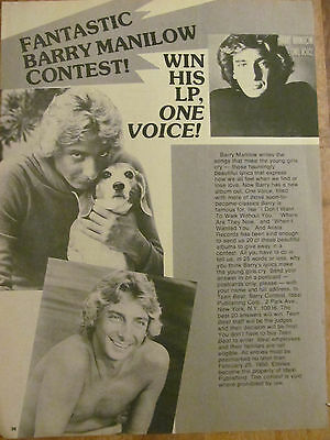 Barry Manilow, Full Page Vintage Clipping