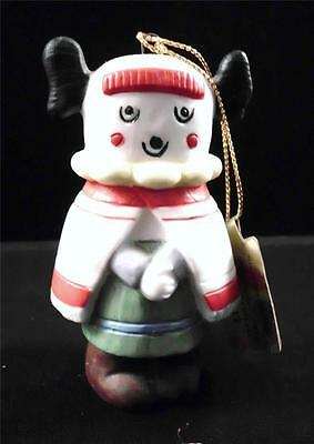 "Perillo Hopi Christmas Ornament 1990 Artaffects Handpainted  ""A Kachina Mother"""