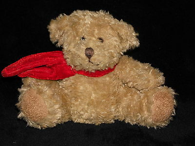 Russ Berrie Benjamin Bear Teddy Bear Soft Toy Comforter With Red Scarf 30580