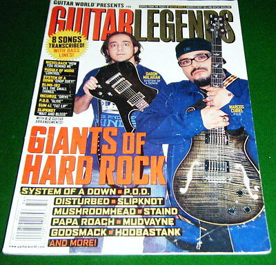 2002 GUITAR LEGENDS Giants Hard Rock: System of a Down, P.O.D. Staind, Magazine