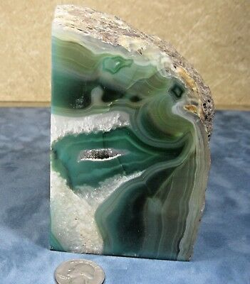 """Bookend solid Agate Geode 5""""x3""""x3""""  3 lb"""