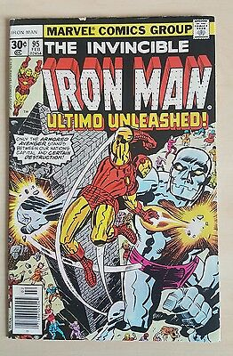 The Invincible Iron Man #95 VF- Bronze Age Comic Uncurculated