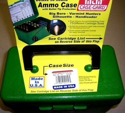 MTM Case Gard™ Deluxe Rifle Ammo Box 50 RD Handle H50-R-RL-10 GREEN 30-06 270
