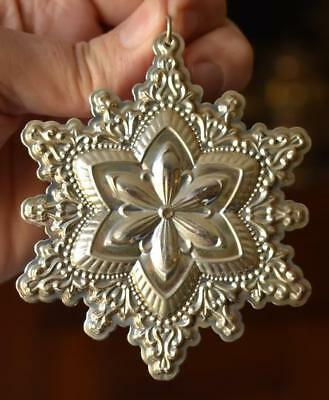 Lovely 2007 Towle Old Master Sterling Silver Snowflake Christmas Tree Ornament