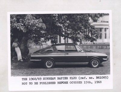 1968 1969 Sunbeam Rapier H120 ORIGINAL Factory Photograph wy6320