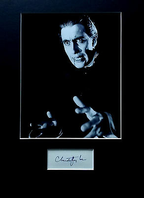 CHRISTOPHER LEE signed autograph PHOTO DISPLAY Dracula